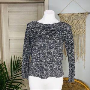 Lou & Grey | Knit Crewneck Cropped Sweater SZ S